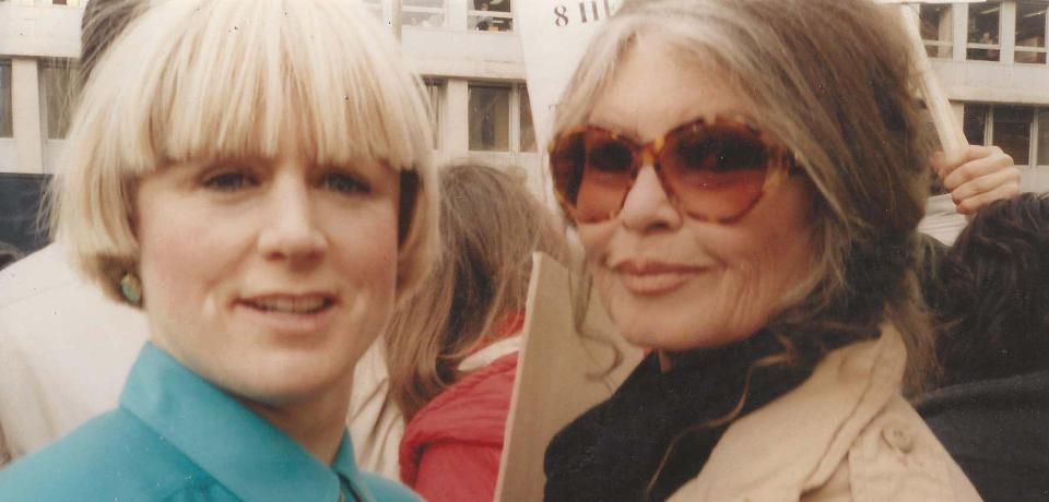 Demonstration in Brüssel gegen Tiertransporte mit Brigitte Bardot.